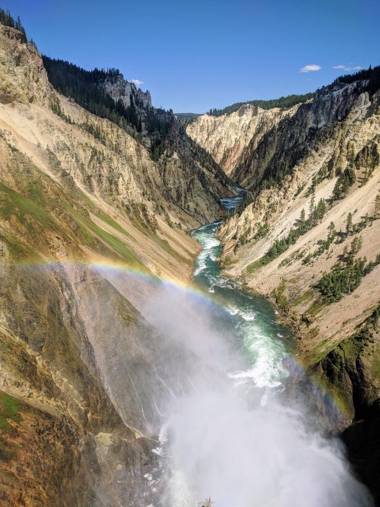 Rainbow with canyon
