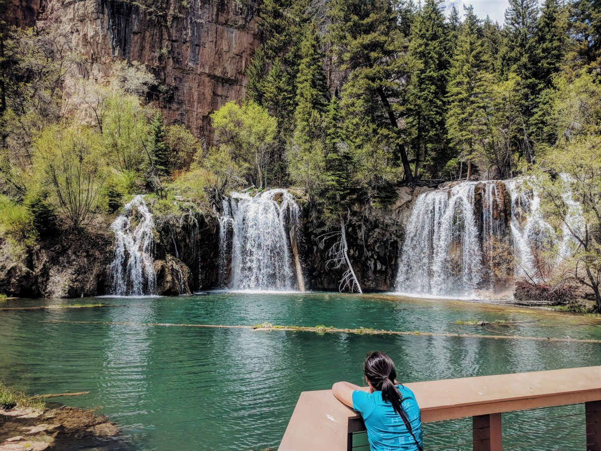 Staring at Hanging Lake