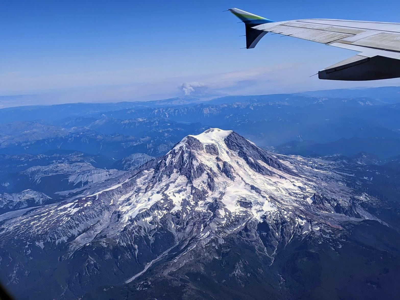 Flying Over Mt. Rainier