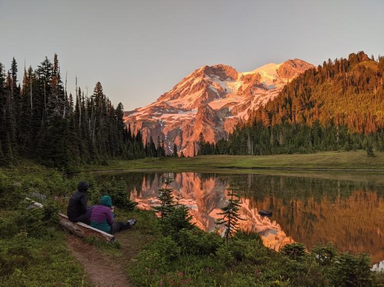 Sunset at Klapatche, Mt. Rainier National Park